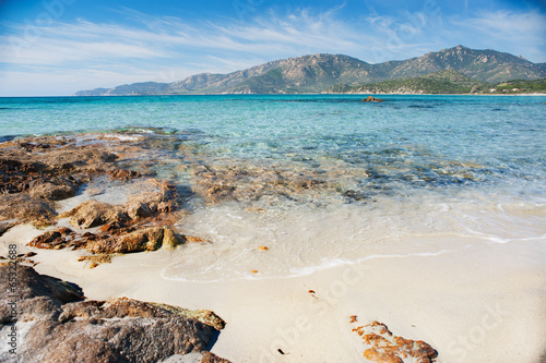 Fotobehang Leeuw Desert seascape in a sunny day - Sardinia