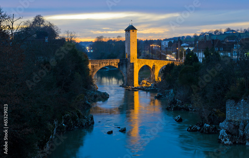 Canvas Prints Artistic monument Bridge at night