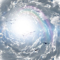 Fototapeta Optyczne powiększenie Tunnel of Clouds