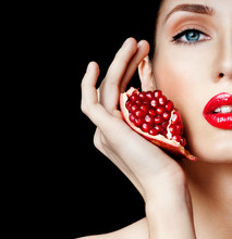 Woman With Pomegranate. Profes...