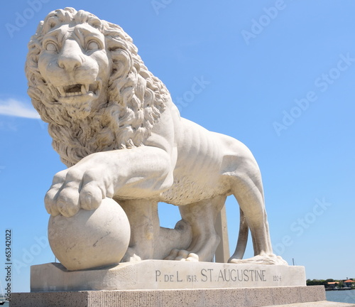 Fényképezés Bridge of Lions St. Augustine, Florida Monument