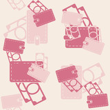 seamless background, purse, money