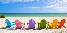Adirondack Beach Chairs On A S...