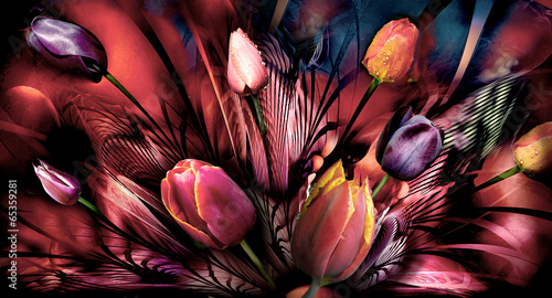 tulips abstrackt