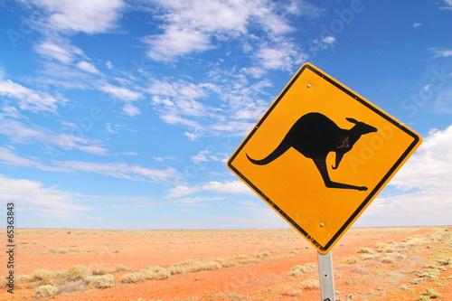 In de dag Australië Australian endless roads