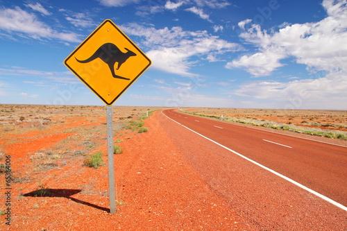 fototapeta na drzwi i meble Australijskie drogi niekończące