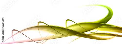 Fotobehang Fractal waves elegant abstract background with cross lines