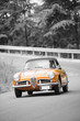 Orange classic car