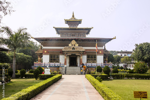bhutanese temple at Bodhgaya  IMAGES, GIF, ANIMATED GIF, WALLPAPER, STICKER FOR WHATSAPP & FACEBOOK