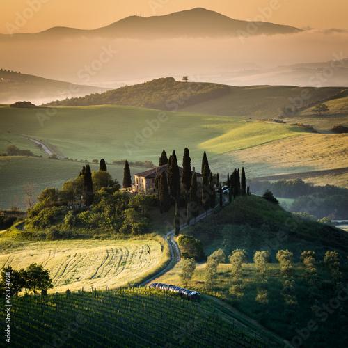 Foto op Plexiglas Toscane Toscana, paesaggio rurale