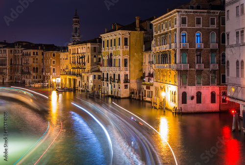 Night view of Canal Grande in Venice