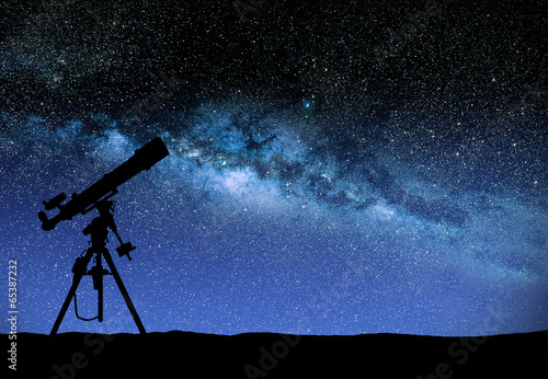 Telescope watching the wilky way