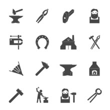 Blacksmith Icons Set