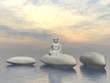 Stone buddha - 3D render
