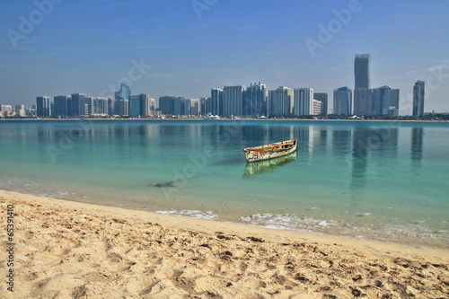 Papiers peints Abou Dabi Skyline Abu Dhabi