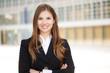 canvas print picture - Businesswoman portrait