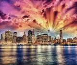 Manhattan at night - 65396633