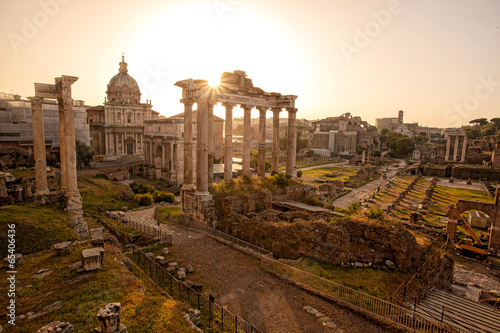 Famous Roman ruins in Rome, Capital city of Italy Wallpaper Mural