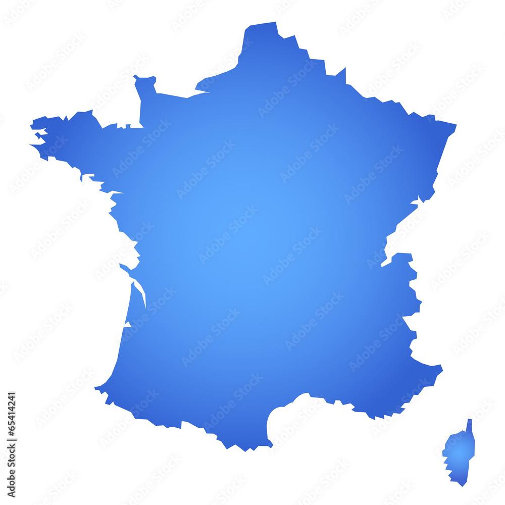 Fototapeta Carte de france