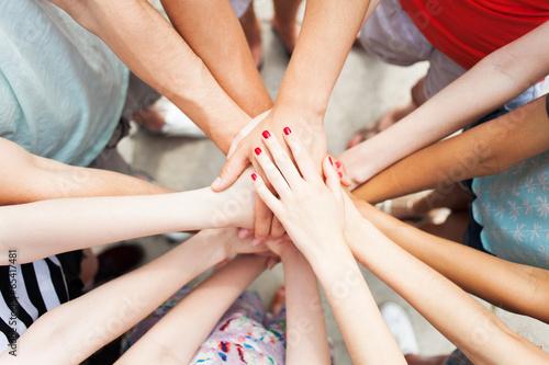 Cuadros en Lienzo Hands joined in unity