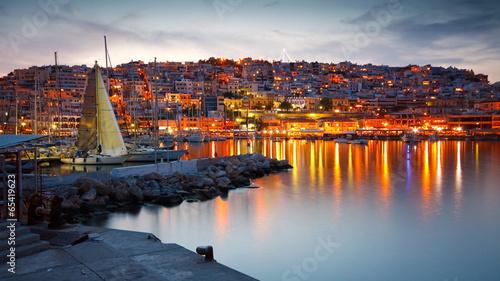 Printed kitchen splashbacks Athens Yachts in Mikrolimano marina in Piraeus, Athens.