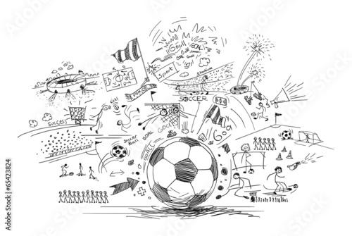 Photo  soccer doodle