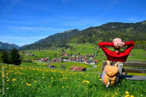 Láminas  Wandern, Urlaub, Berge, Rast