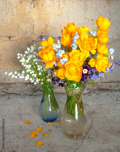 Staande foto Lelietje van dalen still life bouquet