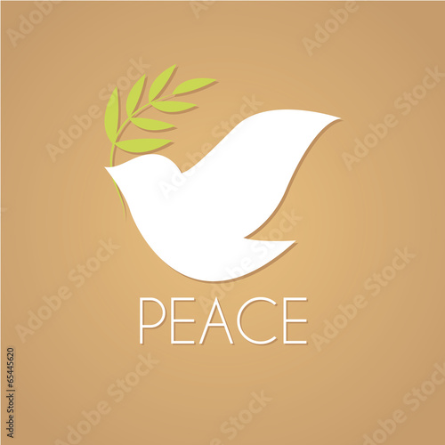Abstract Peace Icon Isolated On Background Plakát