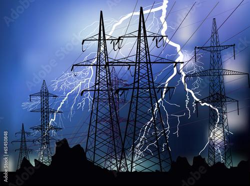 In de dag Schip black pylons and white lightnings