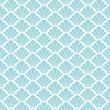 Retro Seamless Pattern Ornament Turquoise