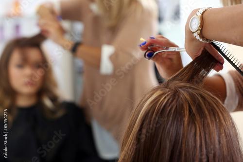 Fotografia  Beauty, hairstyle. Hairdresser salon