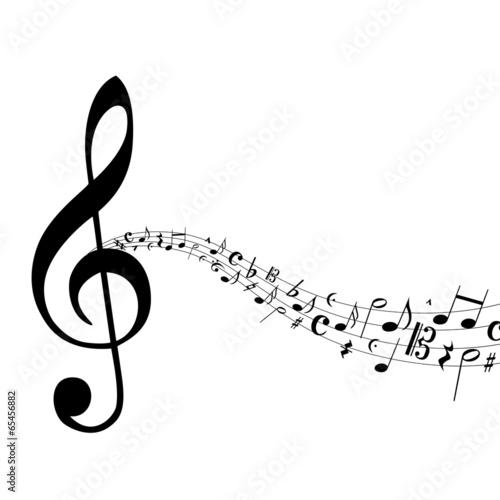 Sticker - Notenschlüssel Noten Musik