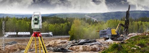 Fotografie, Obraz  road-works, surveying and rock-blasting industry