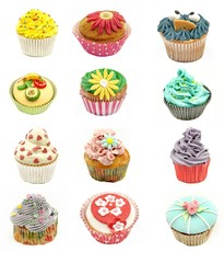 Fototapeta Do cukierni Collage de cupcakes