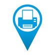 Icono localizacion simbolo impresora