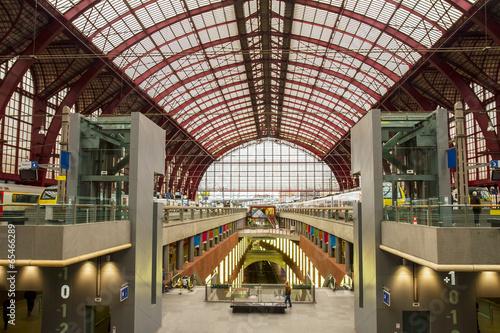 Canvas Prints Antwerp Antwerp Central Railway Station