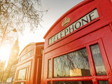 Telephone boxes and the Clock Tower in London