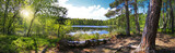 Fototapeta Kitchen - Leśna panorama nad brzegiem jeziora