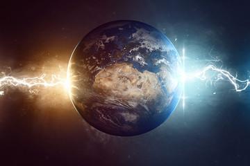 Fototapeta kula ziemska koniec świata