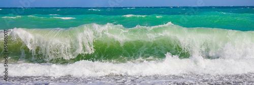 Staande foto Water Морская волна