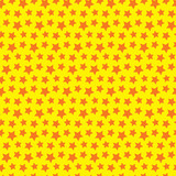 Seamless star texture. Orange yellow background.