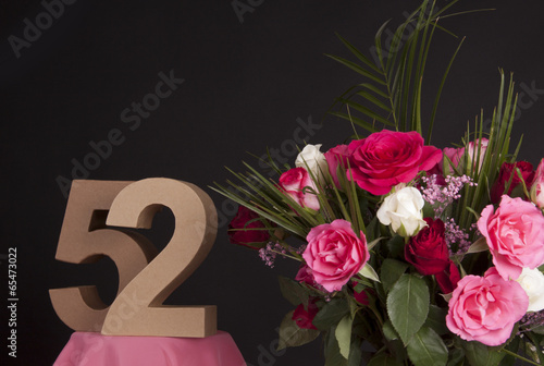 Photo  Happy birthday with roses