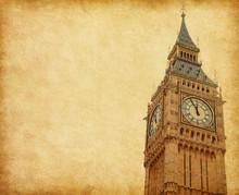 Big Ben - Upper Portion Of The Tower, London, UK.