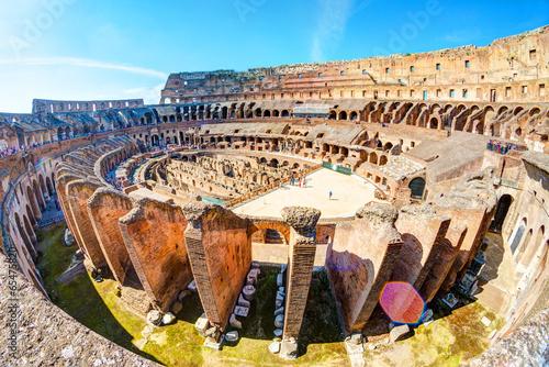 Photo  Colosseum (Coliseum) in Rome