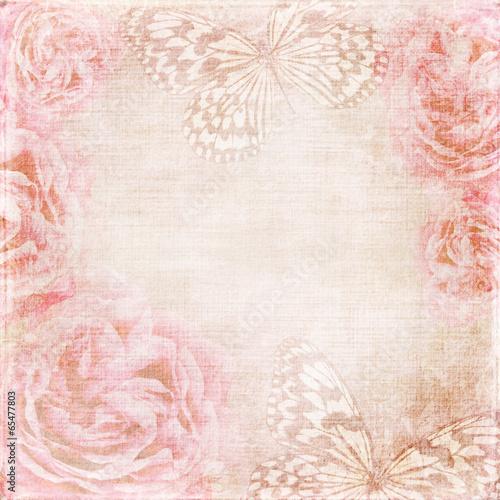 Photo sur Toile Papillons dans Grunge vintage texture background