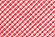 canvas print picture - Checkered Table Cloth