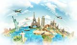 Podróżuj po koncepcji pomnika świata - 65482493