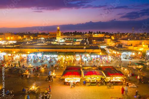 Foto op Canvas Marokko Jamaa el Fna, Marrakesh, Morocco.