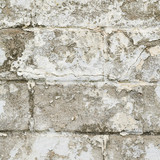 Old white brick wall fragment